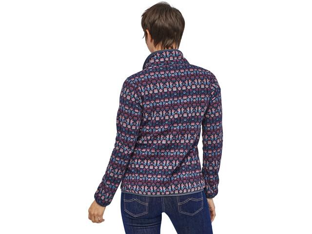 sale retailer 7e0e2 0c9ba Patagonia Micro D Snap-T Pullover Damen cedar mesa/stone blue